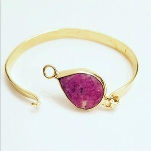 18k Gold plated Turkish bracelet natural stone